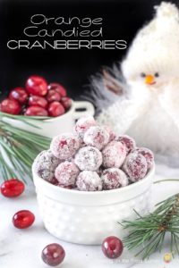Orange Candied Cranberries