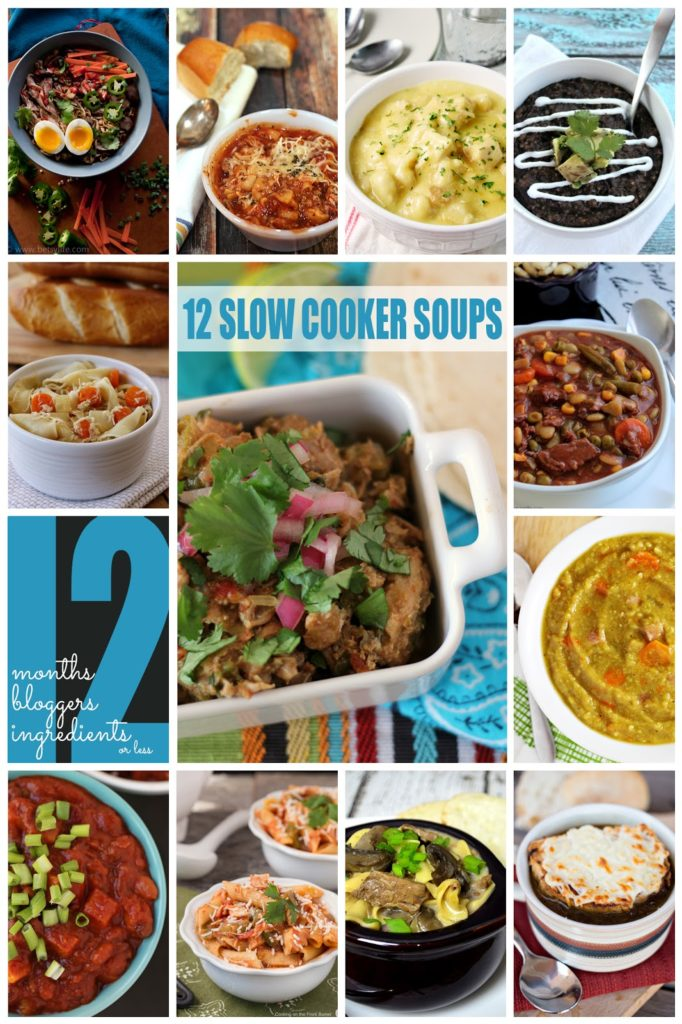12 Slow Cooker Soups #12bloggers | Cooking on the Front Burner