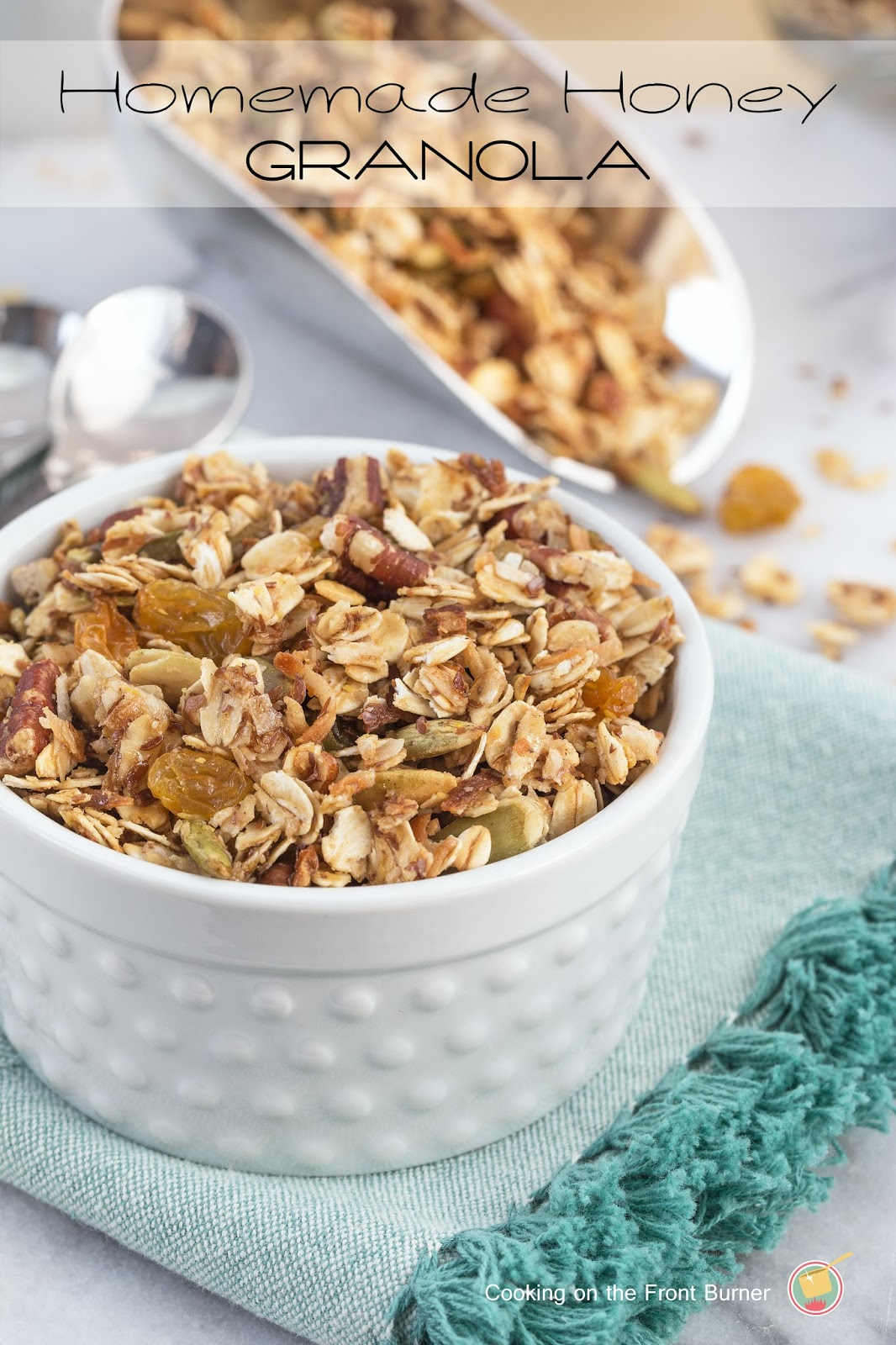 Homemade honey granola cooking on the front burner ccuart Choice Image