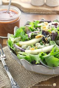 Pear and Walnut Salad with Cranberry Viniagrette