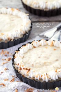 Blog Anniversary and Old Fashioned Coconut Tart
