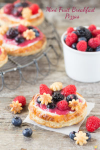 Mini Fruit Breakfast Pizza