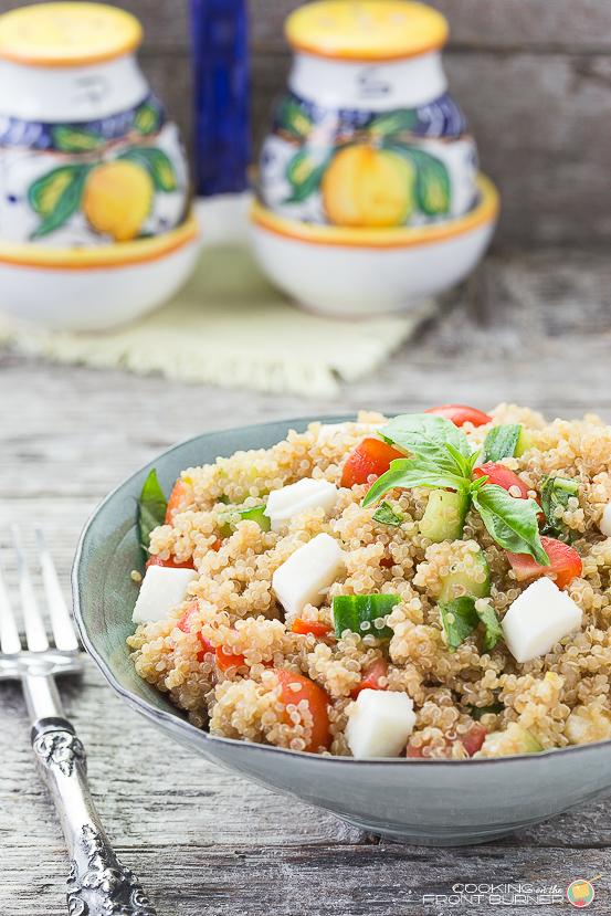 Italian Quinoa Salad   Cooking on the Front Burner