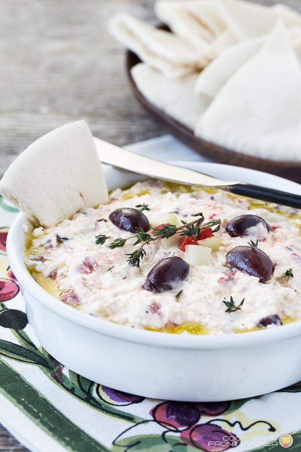 Mediterranean Feta Dip | Cooking on the Front Burner