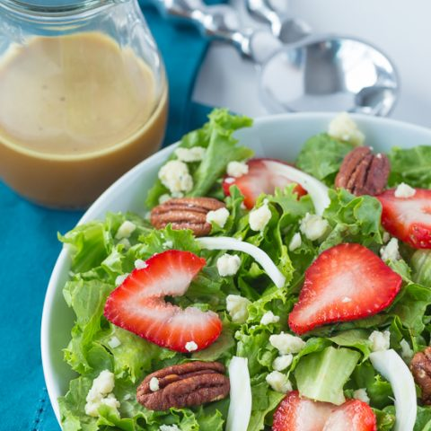 Spring Salad with Strawberry, Fennel and Orange Vinaigrette