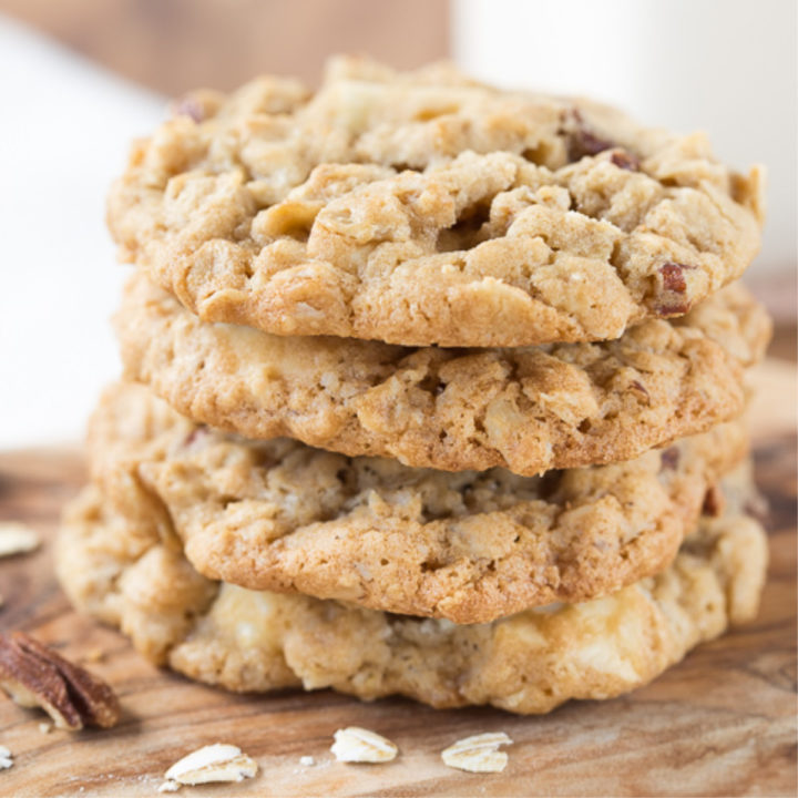 White Chocolate Pecan Oatmeal Cookie