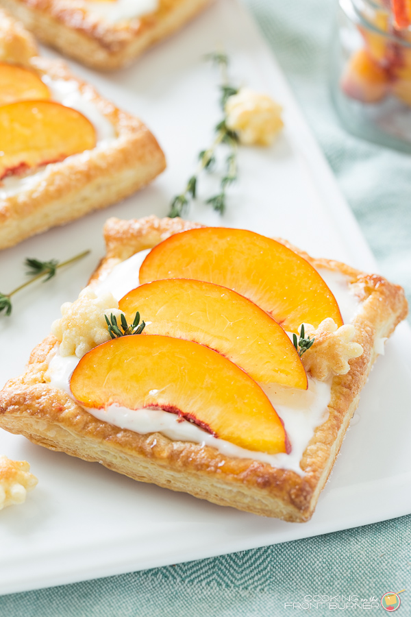 Fresh Peach Tart | Cooking on the Front Burner