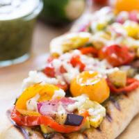Grilled Veggie Pesto Flatbread