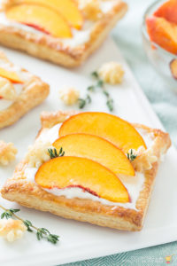 FRESH PEACH TART