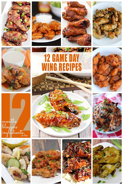 12 Game Day Chicken Wing Recipes #12 bloggers