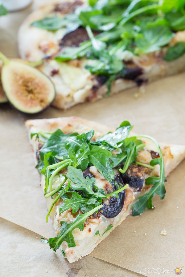 Fresh Fig Pizza with Arugula | Cooking on the Front Burner