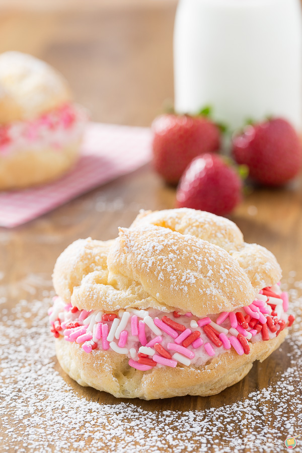 Cream Puffs with Strawberry Mousse | Cooking on the Front Burner