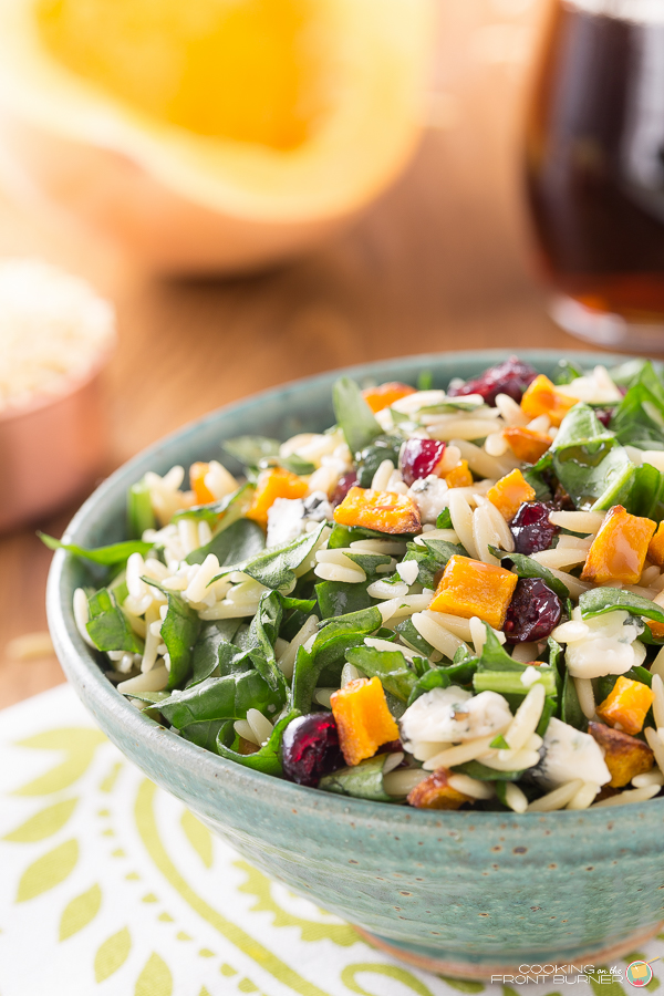 Butternut Squash Orzo Salad with Creamy Maple Vinaigrette