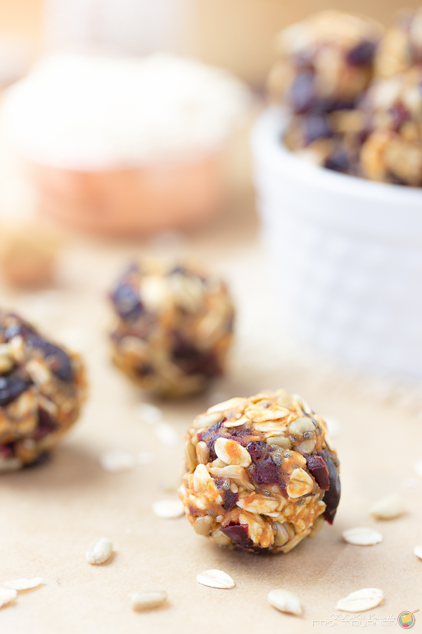 No Bake Pumpkin Chia Energy Bites | Cooking on the Front Burner