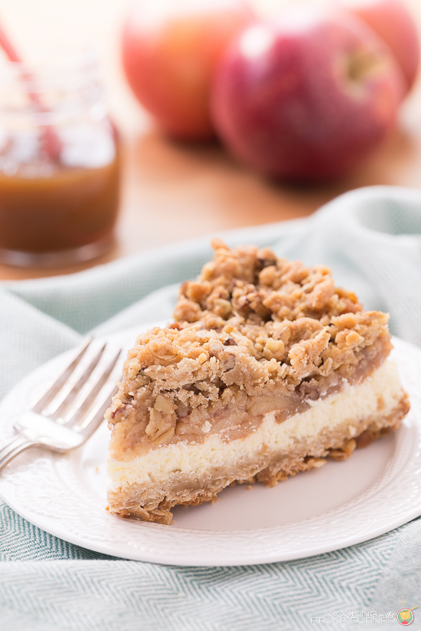 Apple Crisp Cheesecake | Cooking on the Front Burner