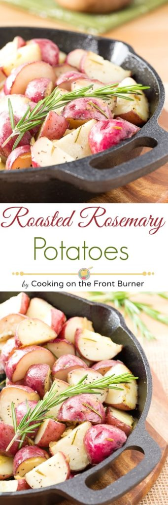 Skillet Roasted Potatoes with Rosemary | Cooking on the Front Burner