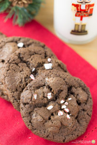 TRIPLE CHOCOLATE PEPPERMINT COOKIES