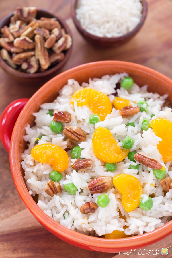 Pecan Orange Basmati Rice Dish | Cooking on the Front Burner