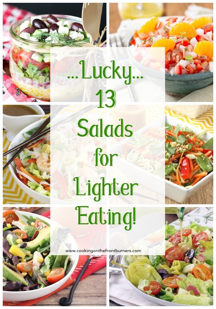 "A collection of 13 ""lucky"" salads to start eating back on track!"