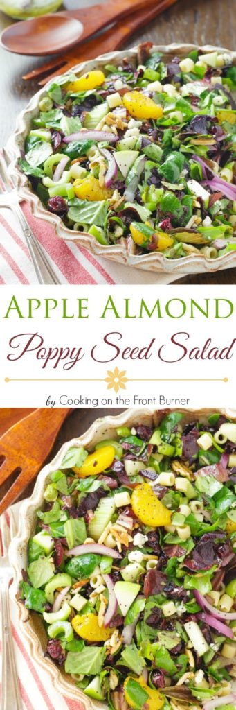 Apple Almond Poppy Seed Salad | Cooking on the Front Burner