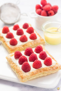 LEMON RASPBERRY TARTS FOR TWO