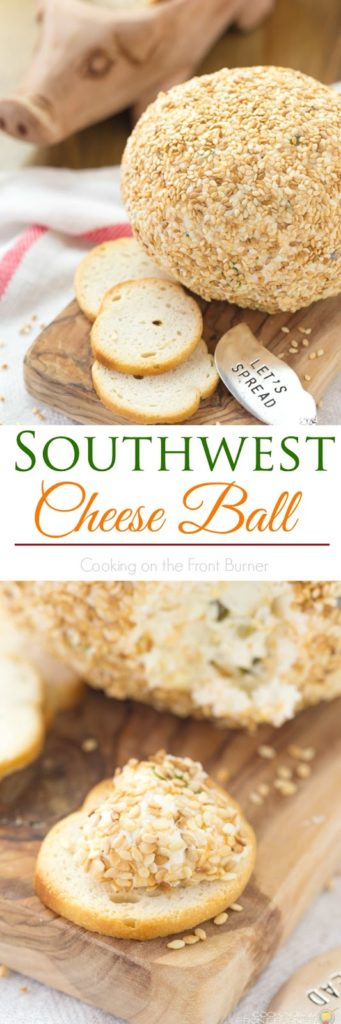 Southwest Cheese Ball | Cooking on the Front Burner