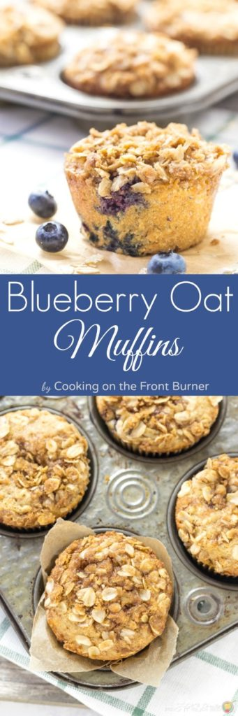 Blueberry Oatmeal Muffins | Cooking on the Front Burner