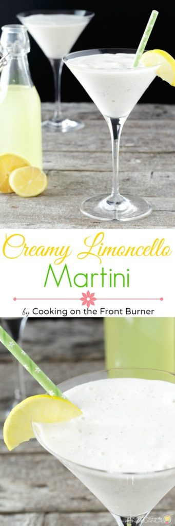 Creamy Limoncello Martini | Cooking on the Front Burner