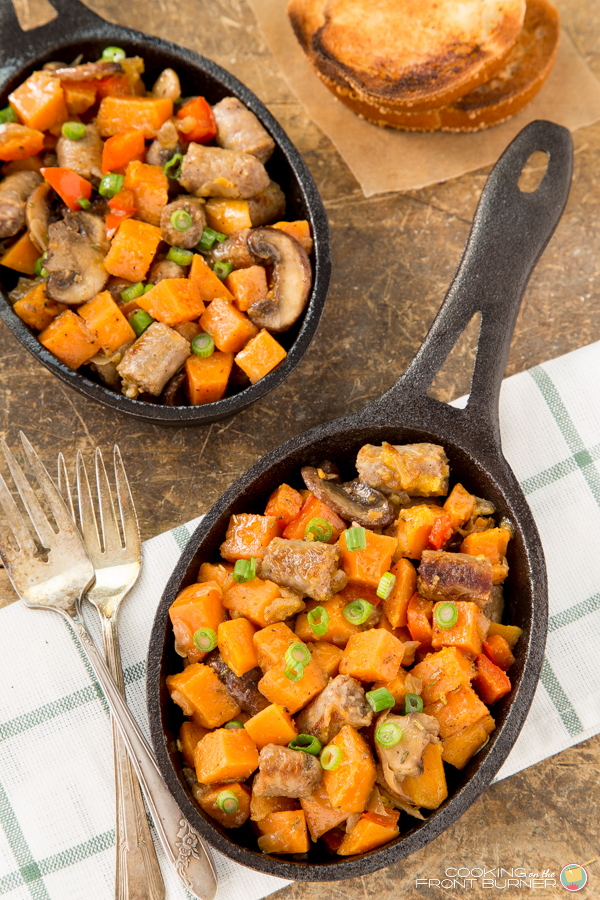 Sweet Potato and Sausage Hash | Cooking on the Front Burner