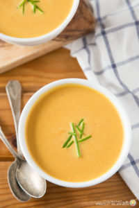 EASY CARROT GINGER SOUP