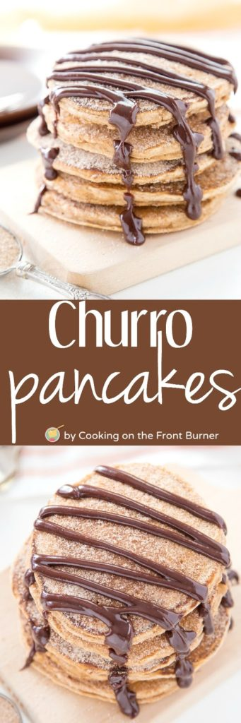Churro Pancakes with Spicy Chocolate Sauce | Cooking on the Front Burner