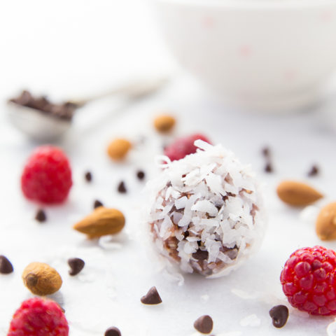 Raspberry Coconut Energy Bites