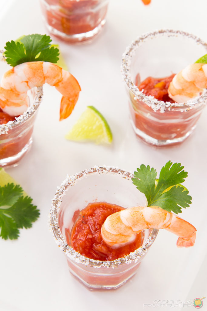 Shrimp Cocktail Shooters | Cooking on the Front Burner