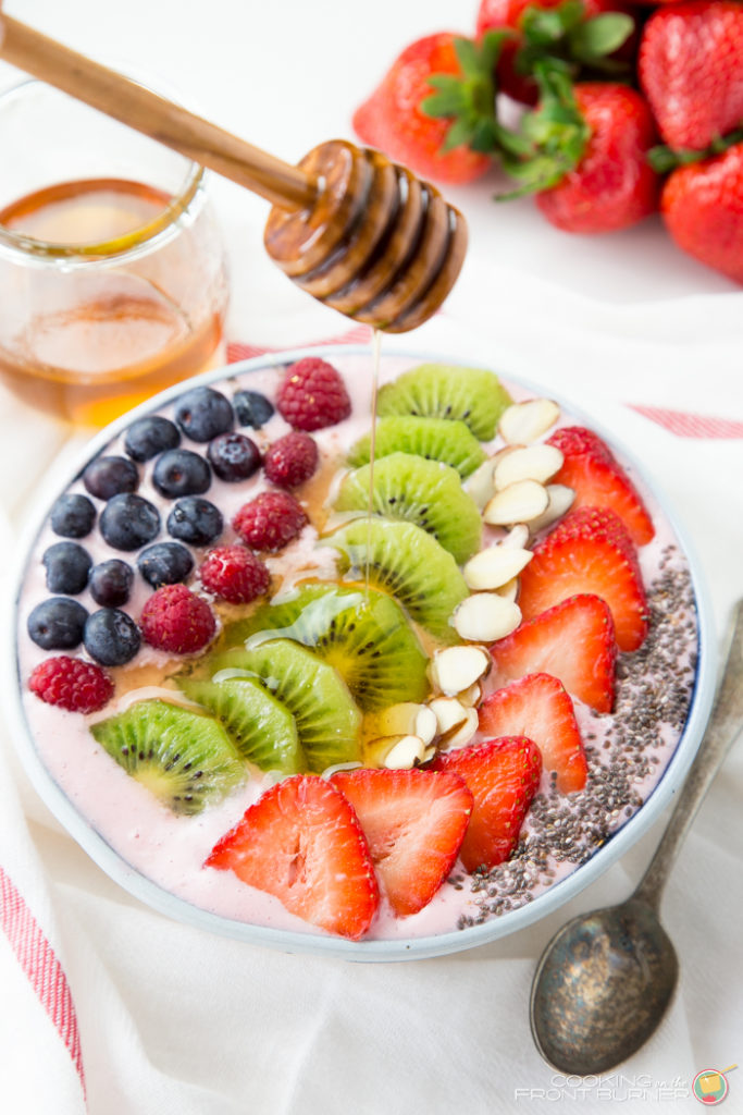Strawberry Banana Smoothie Bowl | Cooking on the Front Burner