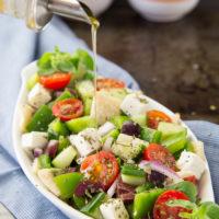 Chopped Greek Panzanella Salad