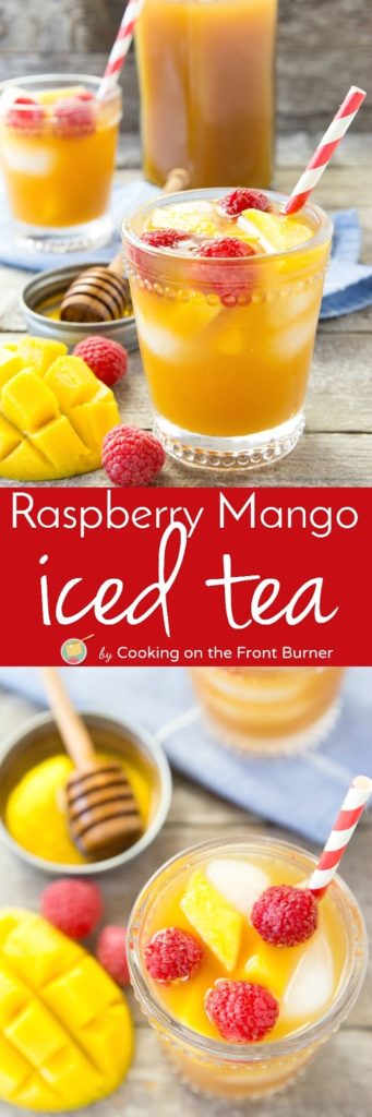 Raspberry Mango Ice Tea | Cooking on the Front Burner