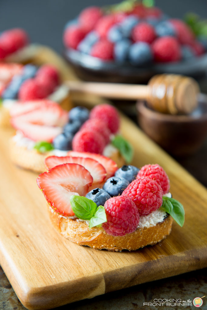 Triple Berry Bruschetta | Cooking on the Front Burner