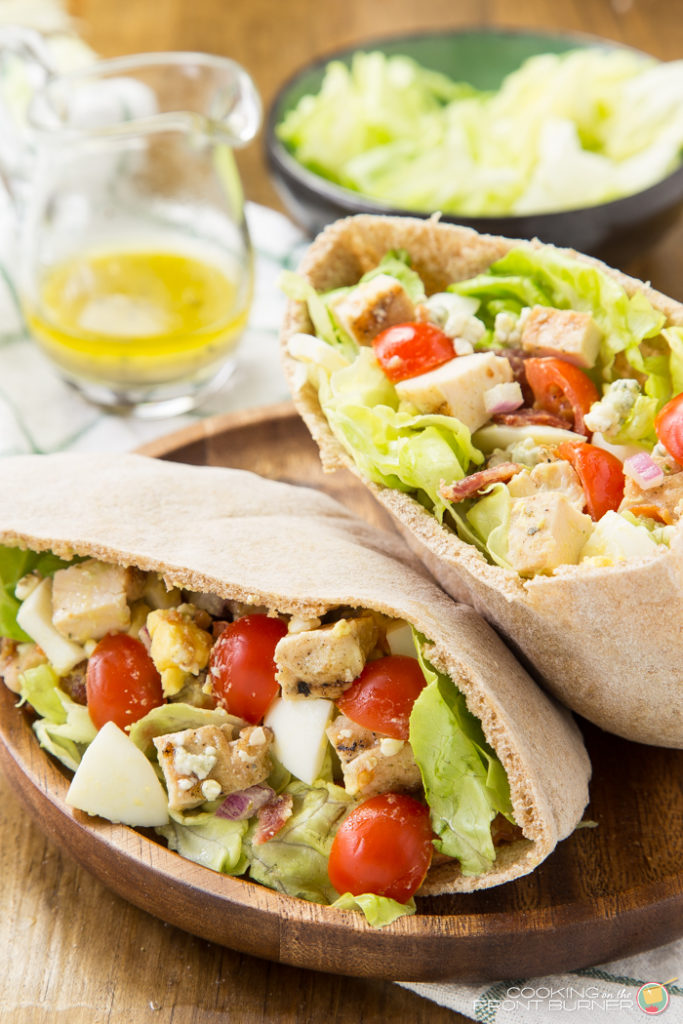 Cobb Salad Pita Pocket | Cooking on the Front Burner