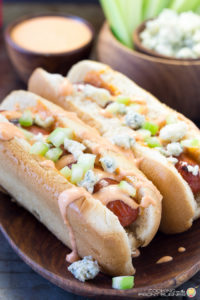Buffalo Style Hot Dogs