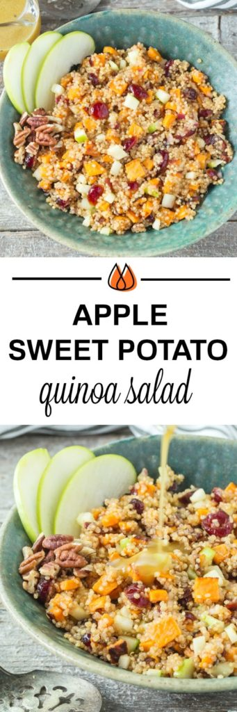 Sweet Potato and Apple Quinoa Salad with Maple Vinaigrette
