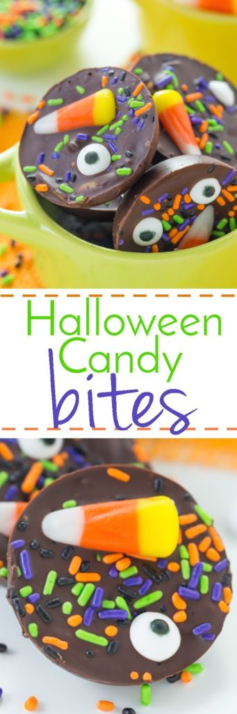 These Halloween Candy Bites are a perfect snack for your goblins!