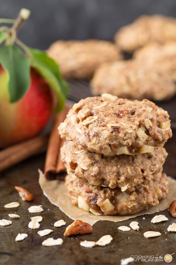 Apple Pecan Oatmeal Breakfast Cookies