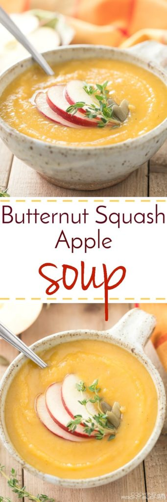 How does a comforting bowl of Butternut Squash Apple soup sound? It is super creamy and a bit spicy!