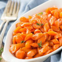 Honey Bourbon Glazed Carrots