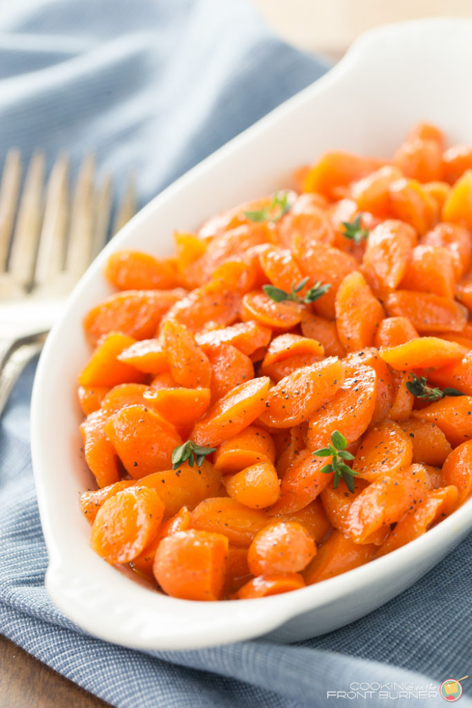 Bourbon honey glazed carrots are easy to make and add a pop of color to this great side dish recipe!