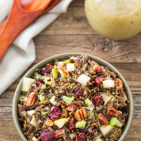 Wild Rice Pear Pecan Salad