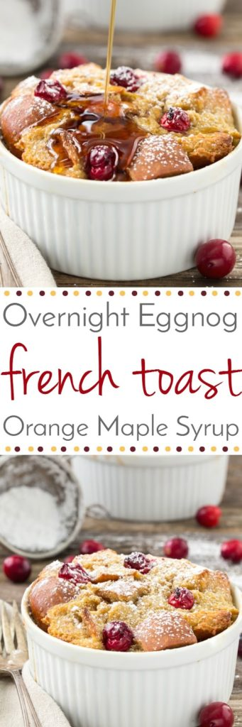 Overnight Eggnog French Toast with Cranberries