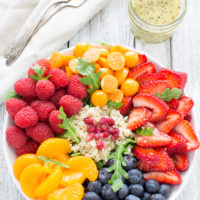Fresh Fruit Arugula and Quinoa Salad