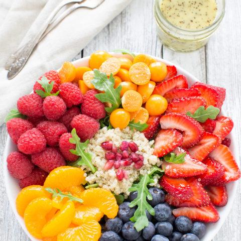 Fresh Fruit Arugula and Quinoa Salad