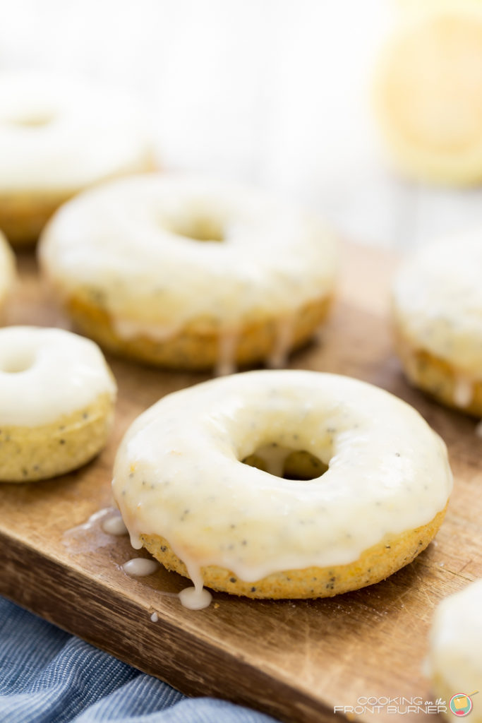 Glazed Lemon Poppy Seed Baked Donuts